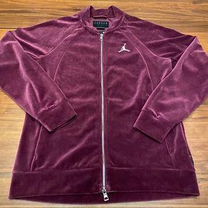 Jordan JSW Velour Jacket Bordeaux